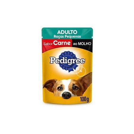 Sachê Pedigree Carne ao Molho Cães Adultos de Raças Pequenas