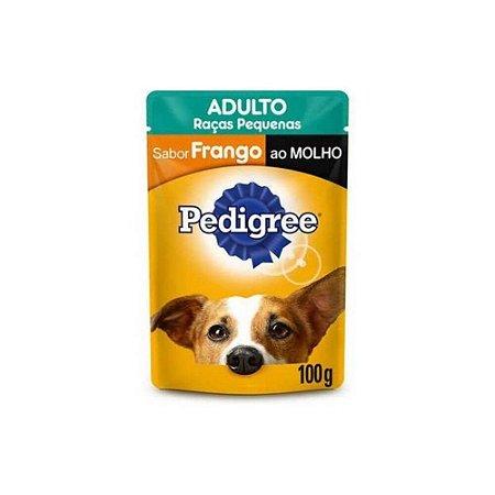 Sachê Pedigree Frango ao Molho Cães Adultos de Raças Pequenas