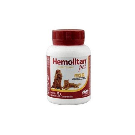 Suplemento Vitaminico Hemolitan Pet - 30 Comp. - Vetnil