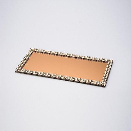Suporte Espelhado Dourado 32 Cm