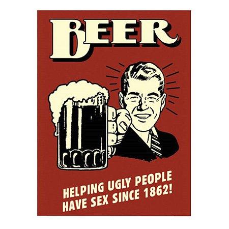 Placa Beer Helping