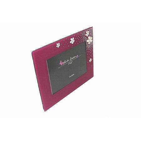 Porta Retrato Pink de Vidro 18 x 13 Cm
