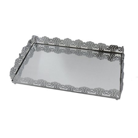 Bandeja Metal Espelhada 20,5 Cm