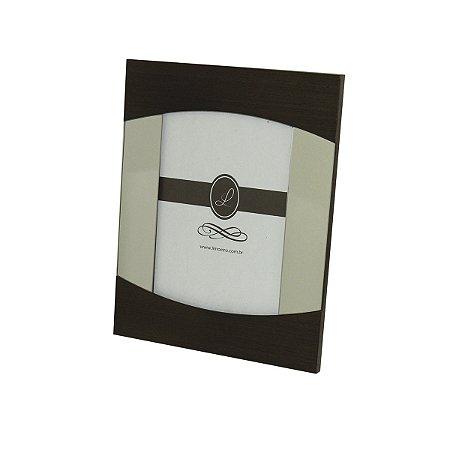 Porta Retrato de Madeira Espelhado 15 x 21 Cm