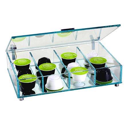 Porta Cápsula de Café em Vidro 4 Divisões