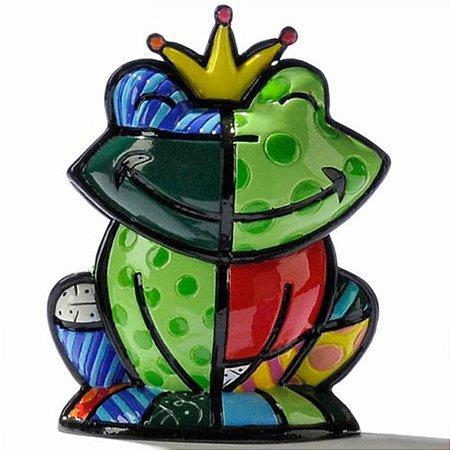 Mini Escultura Sapo Prince Charming - Romero Britto