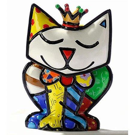 Mini Escultura Gato Princess - Romero Britto
