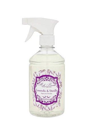 Água Perfumada p/ Tecidos Lavanda e Vanilla 500ML