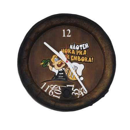 Relógio Barril Números Caídos