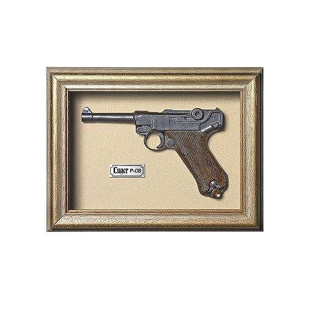 Quadro Réplica Pistola Luger