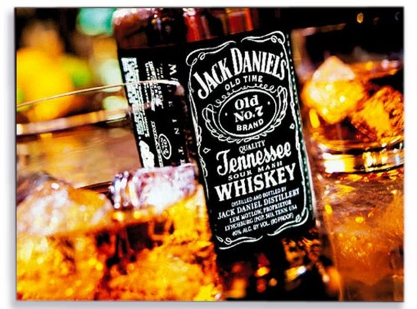 Placa Jack Daniels Wiskey P