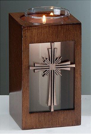 Suporte p/ vela Crucifixo