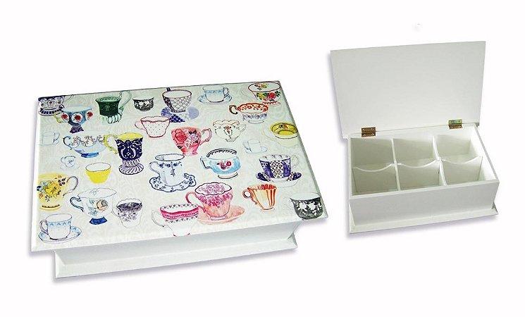 Caixa de chá Xícaras