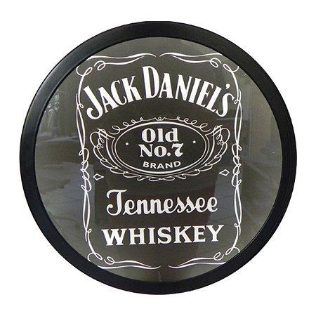 Quadro redondo Jack Daniels luminoso
