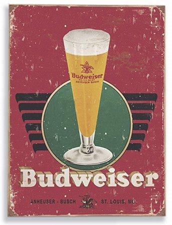 Placa Budweiser Tulipas