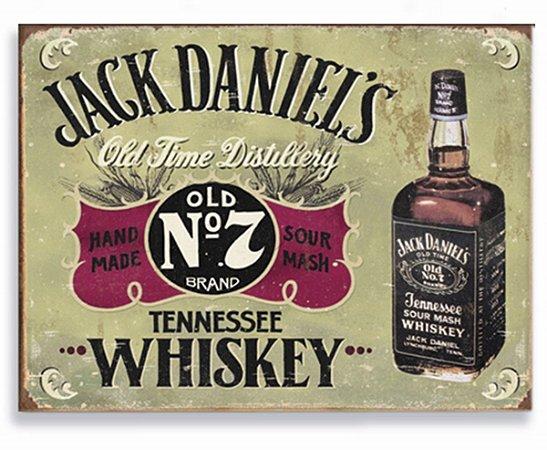 Placa Jack Daniels N7