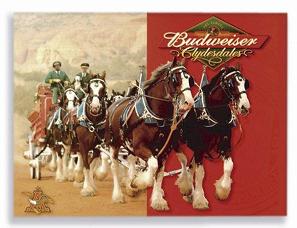 Placa Budweiser Cavalos P