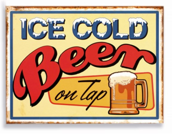 Placa Ice Cold Beer P