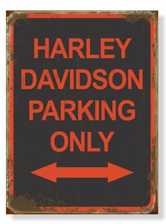 Placa Harley Parking Seta