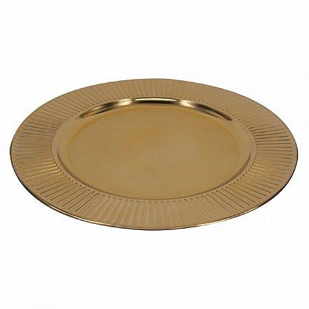 Sousplat Dourado 33cm