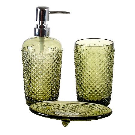 Kit p/ Banheiro Bico de Jaca Verde