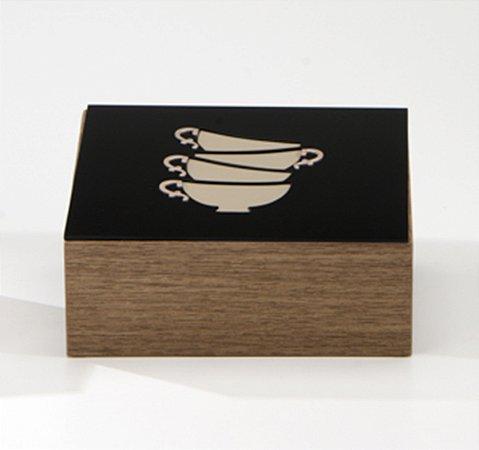 Caixa p/ chá Lucy - Preto