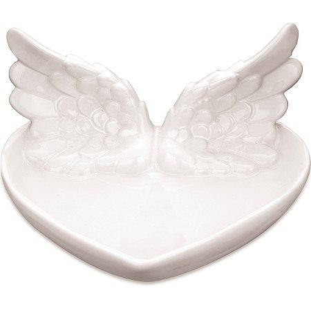 Prato Decorativo Branco c/ asas