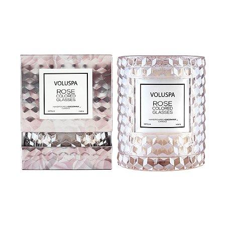 Vela Rose Colored Glasses Copo Redoma 55H