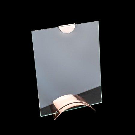 Porta retrato de vidro rose