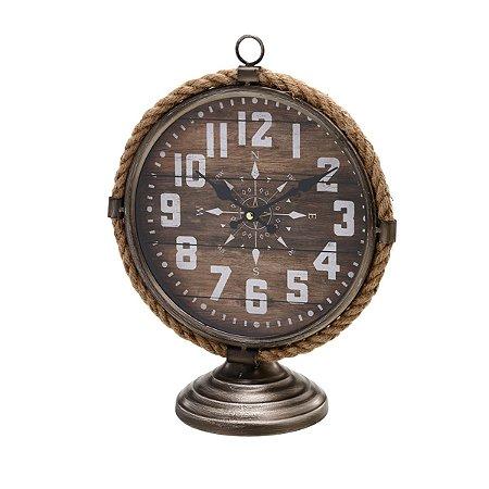 Relógio de mesa Bússola Marrom