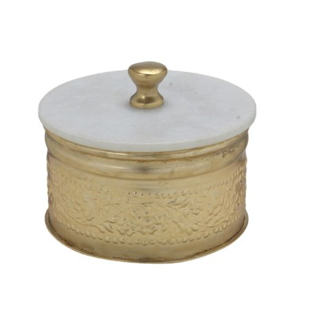 Caixa Decorativa Dourada 17cm