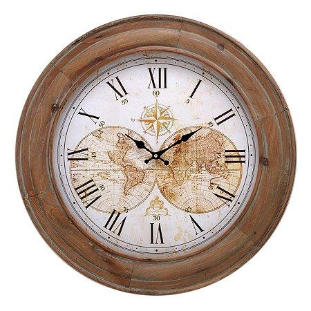 Relógio Parede Marrom