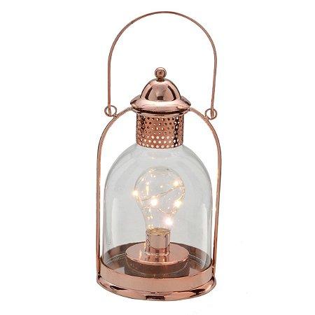 Lanterna Led Rosé 24cm
