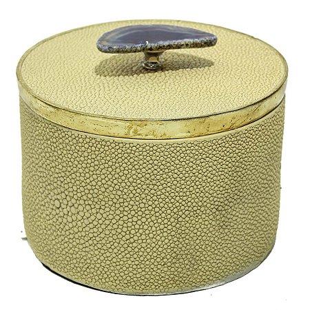 Caixa Dourada Decorativa