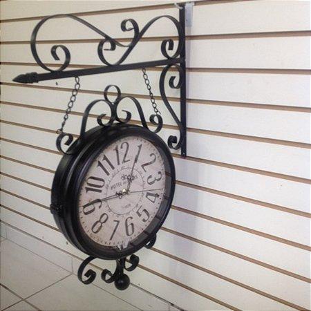 Relógio Parede Metálico c/ Suporte