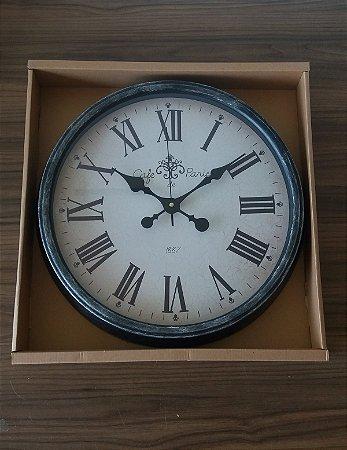 Relógio Parede Design Paris Cinza