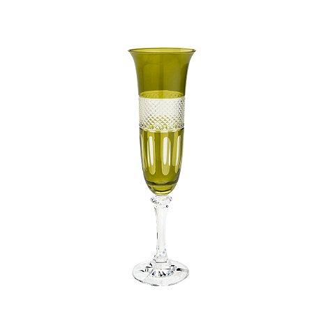 Conjunto 6 Taças p/ Champagne Safira Kleopatra Branta 175ml