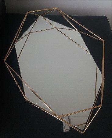 Bandeja Prisma Dourada G