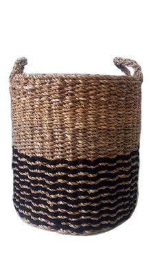 Cesto Seagrass c/ Cordão Preto 45cm