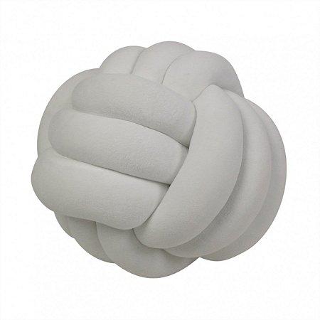 Almofada Nó Veludo Branca
