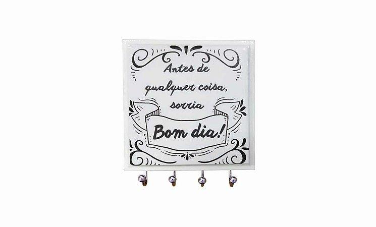 Porta Chaves Azulejo Bom Dia