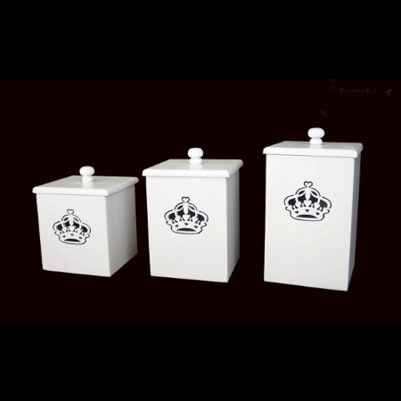 Conjunto Potes Coroa Rainha 3 Pçs