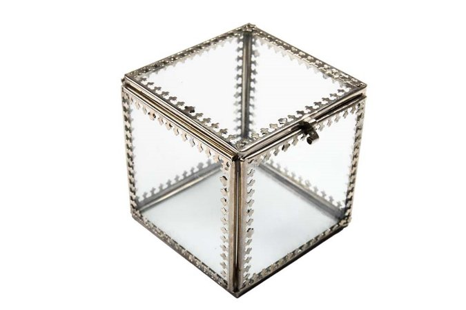 Caixa Organizadora Vidro Metal 9,5cm