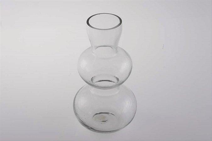 Castiçal Vaso Vela Vidro 15cm
