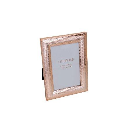 Porta Retrato Rose Losango 15x20cm