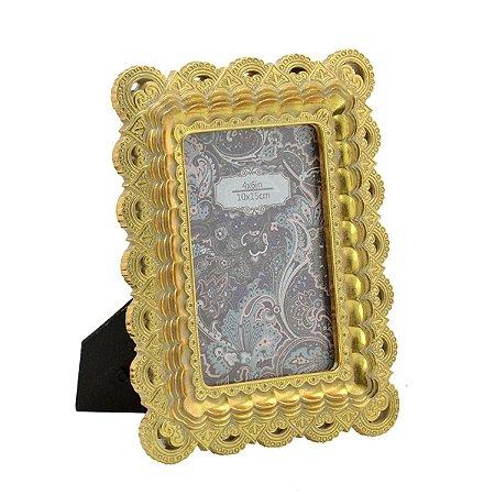 Porta Retrato Dourado 10x15cm I