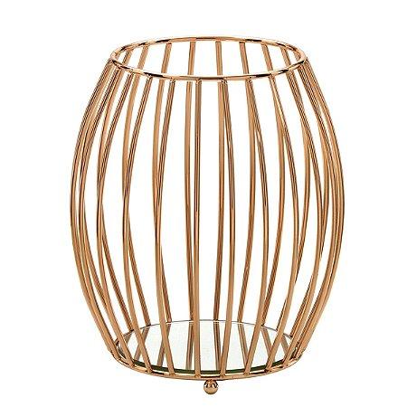 Candelabro Decorativo Dourado 21cm