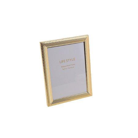 Porta Retrato Thick Line Dourado 20x25cm