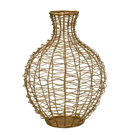 Vaso Dourado Vazado
