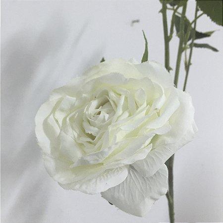 Flor Rosa Branca c/ 3 Botões